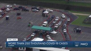 Florida reaches more than 250,000 Coronavirus cases
