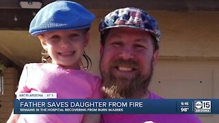 Valley father saves daughter from house fire