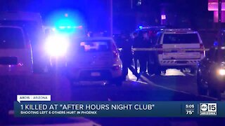1 killed at 'after hours' night club in Phoenix