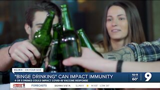 Experts: Four or five alcoholic drinks could impact COVID-19 vaccine response