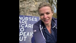 Nurse leading Protest against Covid Science