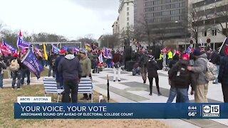 Arizonans sound off ahead of electoral college count