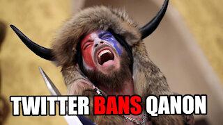Twitter Suspends 70k QAnon accounts in MASSIVE PURGE