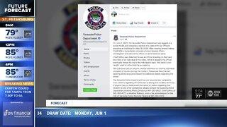 Sarasota officer on leave after kneeling on man's neck during arrest