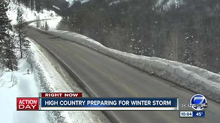High country preparing for winter storm