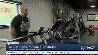 Study says face masks do not effect lungs during exercise