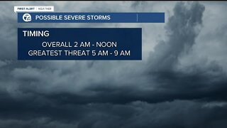 Severe storms late overnight