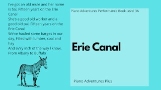 Piano Adventures Performance Book 3A - Erie Canal