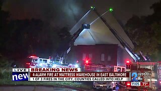 Baltimore Fire crews battling three separate fires in city