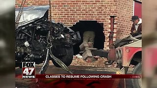 Car crashes into Northwest High School in Jackson