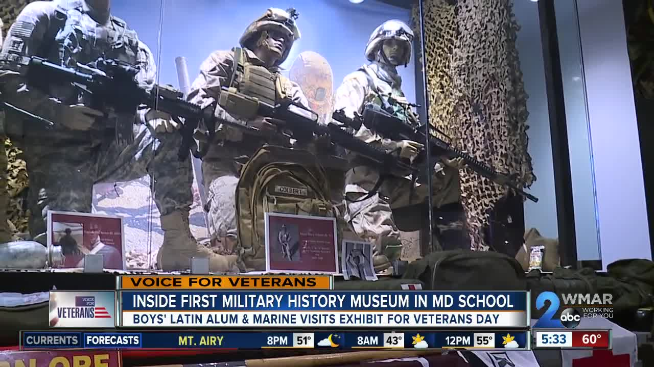 Inside first military history museum in Maryland school