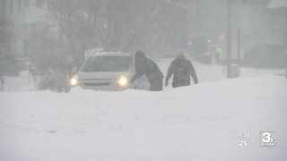 Snowy conditions in West Omaha