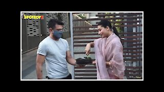Eijaz Khan & Pavitra Punia Celebrate Latter's Birthday With The Media