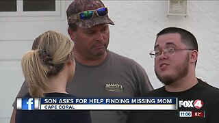 Son of missing Cape Coral Woman is desperate for answers