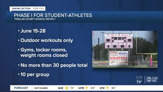 Pinellas County Schools begin summer athletic training with COVID-19 safety guidelines