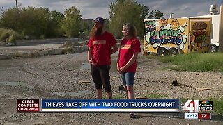 Thieves take off with two food trucks overnight