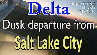 Dust takeoff from Salt Lake City by Delta flight DL2817