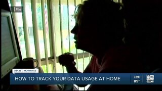 Tracking your data usage while working/schooling from home