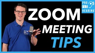 Zoom Meeting Remote Work Tips - Best Zoom Audio and Video Quality