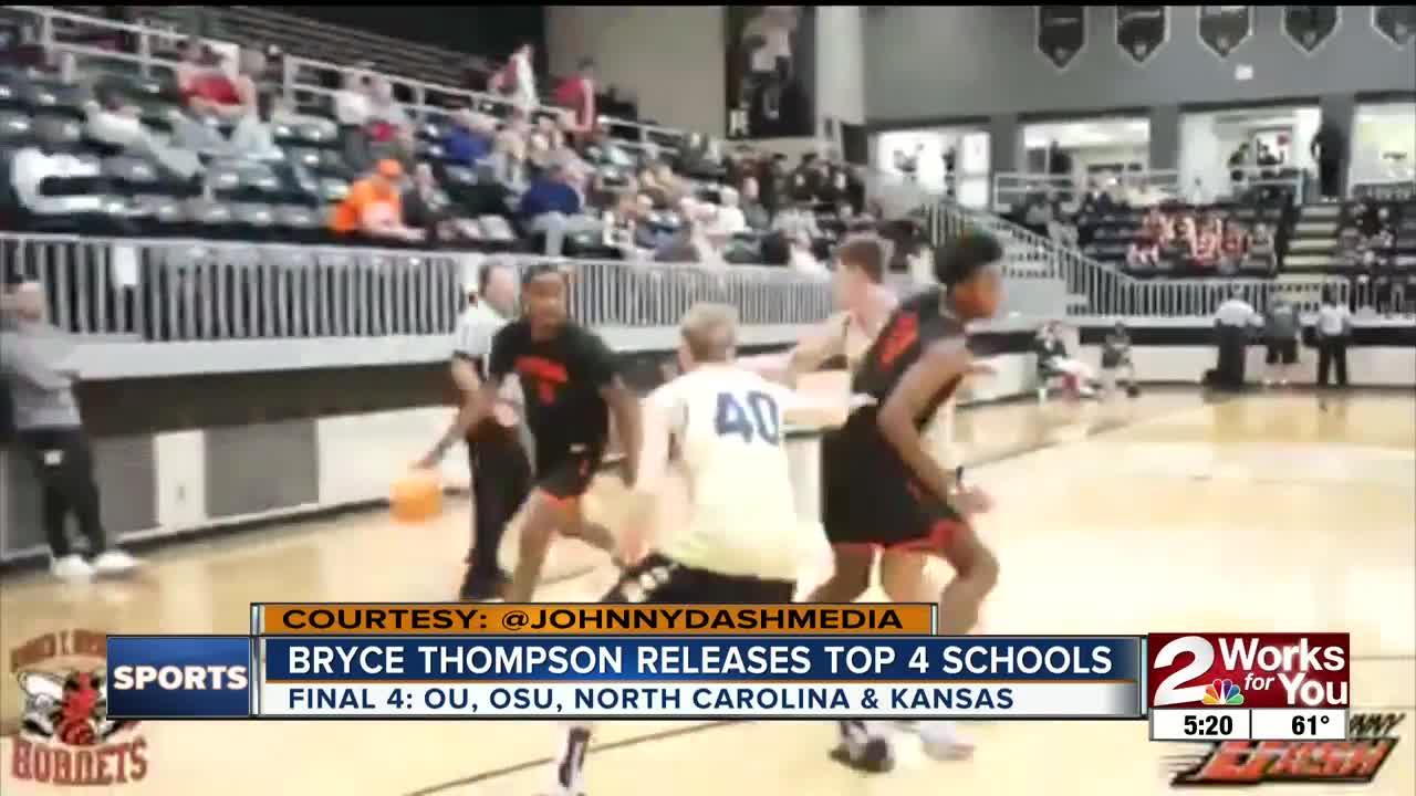 Bryce Thompson Releases Top 4 Schools