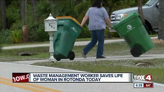 Waste Management worker saves elderly woman on Christmas Eve