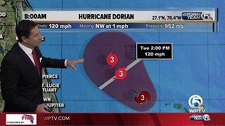 8 a.m. Tuesday Dorian update