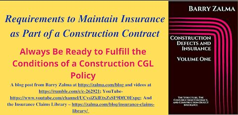 Requirements to Maintain Insurance as Part of a Construction Contract