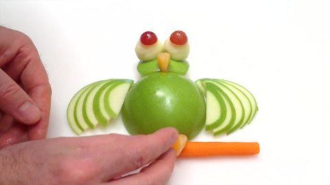 DIY: How to create an owl using an apple