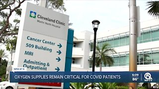 Oxygen supplies remain critical for COVID-19 patients