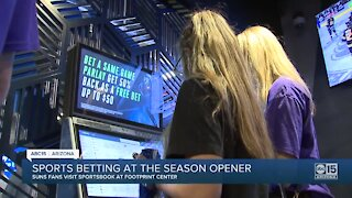 Sports betting before and during Suns season opener game