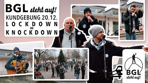 BGL steht auf! Kundgebung (Demo) LOCKDOWN = KNOCKDOWN in Freilassing vom 20.12.2020