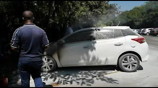 SOUTH AFRICA - Durban - UKZN security building petrol bombed (Videos) (93E)