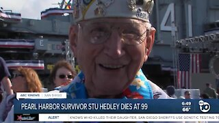 Pearl Harbor survivor Stu Hedley dies at 99