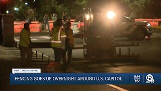Fencing going back up around Capitol ahead of weekend rally