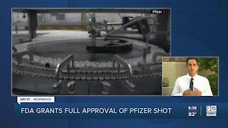 Health Insider: FDA grants full approval of Pfizer shot