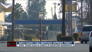 March Against Child Trafficking being held in Downtown Bakersfield Saturday evening