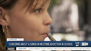 Concerns about a surge in nicotine addiction in school