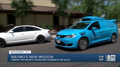 Waymo delivering food to help feed seniors in the East Valley