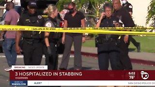 Three victims stabbed near Oceanside High School