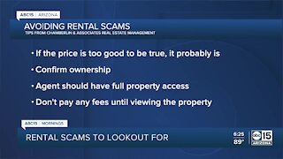Valley rental scams to look out for