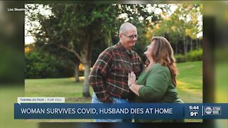 Woman hospitalized with COVID-19 comes home to find husband dead