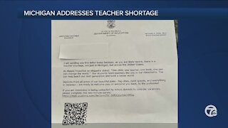 Michigan Department of Education sending out letters to recruit former teachers