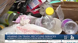 Hearing on trash, recycling services