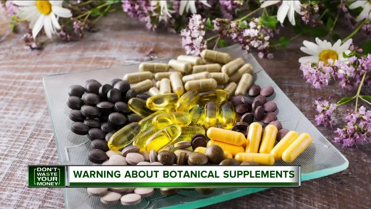 Warning about botanical supplements