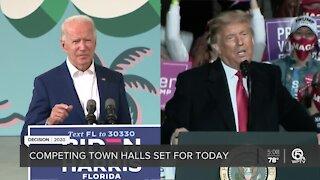 Trump, Biden hold competing town halls