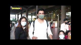 Ileana D'Cruz, Randeep Hooda & Sharad Kelkar with family spotted at the Airport   SpotboyE