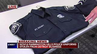 Police uniforms stolen from Detroit cleaner overnight