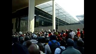 WATCH: Security guards march at Tshwane House (9iJ)