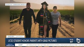 UCSD student honors parents with graduation pictures