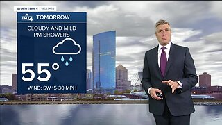 Warmer and breezy Thursday, with afternoon showers